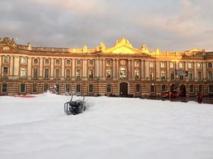 tapis de neige place du Capitole.